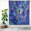 Indigo Twilight Indoor Wall Tapestry