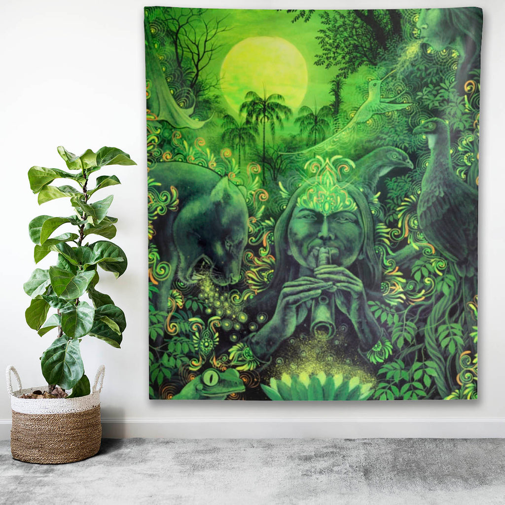 Jungle Melodies Indoor Wall Tapestry