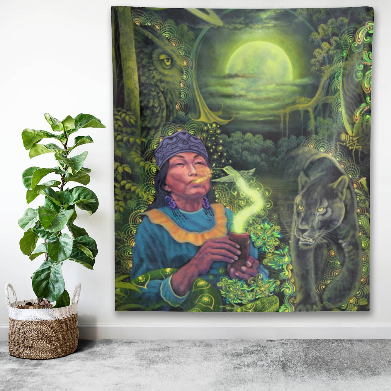 Moon Guidance Indoor Wall Tapestry