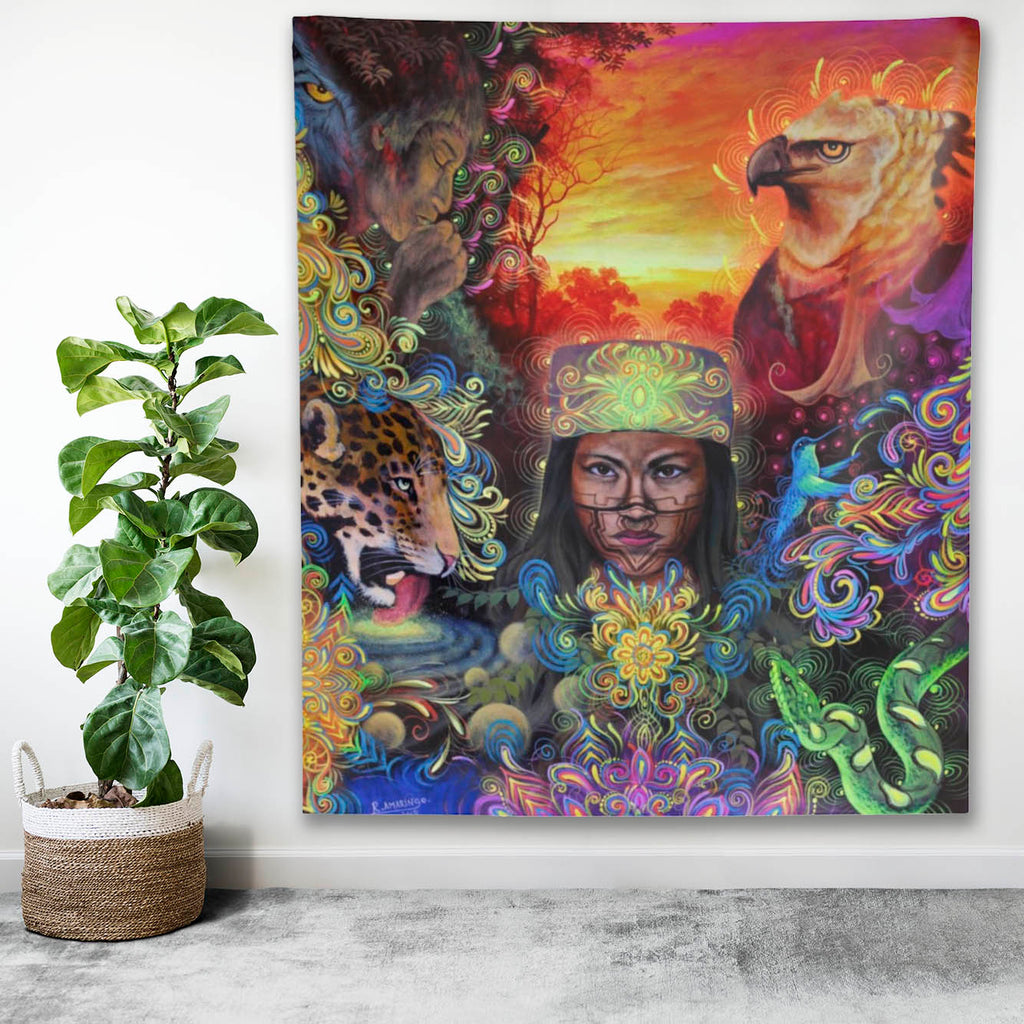 The Mystical Healer Indoor Wall Tapestry