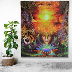 Visions of the Jungle Indoor Wall Tapestry