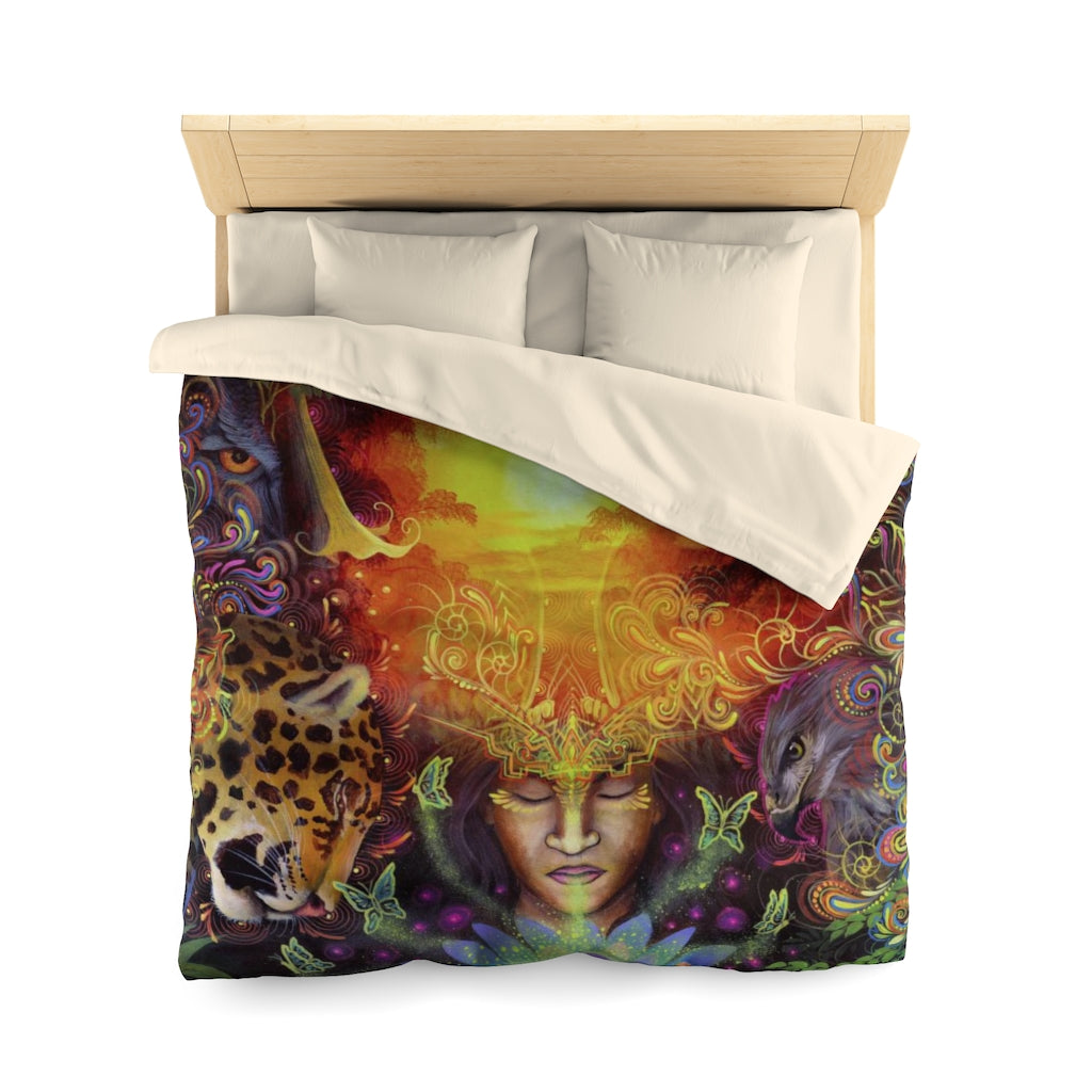 Visions of the Jungle Microfiber Duvet Cover (Queen Size)