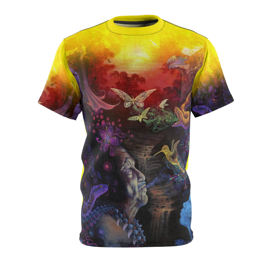 The Shaman Ayahuasca Vision All-Over Print Unisex Tee