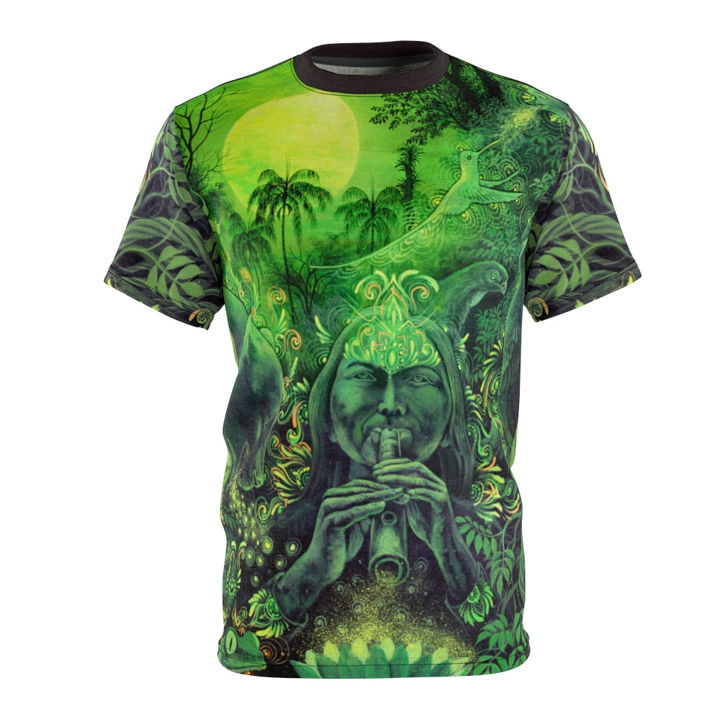 Jungle Melodies Ayahuasca Vision All-Over Print Unisex Tee