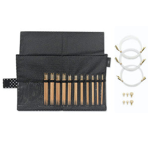 "Kinki Amibari Interchangeable Needle Kit - 11 Tips, 5"", Bamboo"