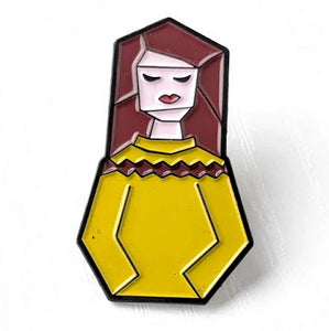 Sweater Girl Enamel Pin