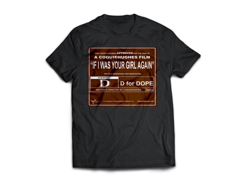 CoquieHughes Movie Rating Tee – Brown with White - Short-Sleeve Black Unisex T-Shirt
