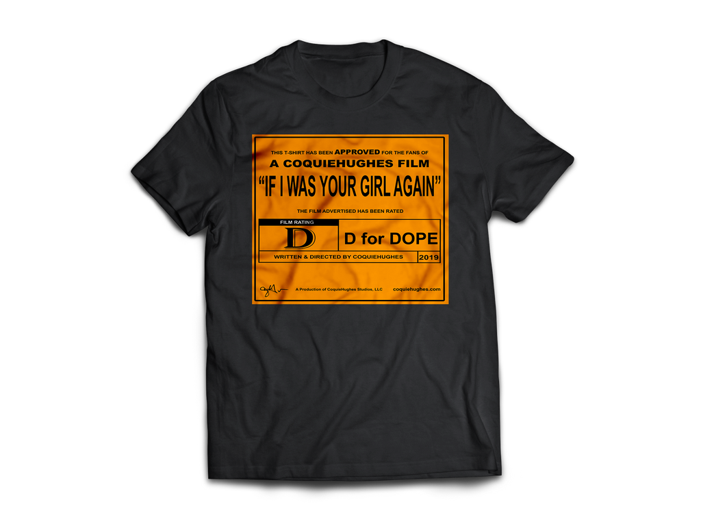 CoquieHughes Movie Rating Tee - Orange - Short-Sleeve Black Unisex T-Shirt