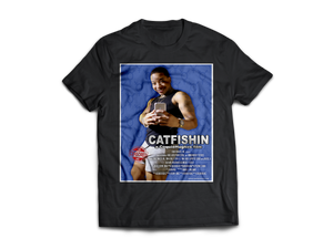 Catfishin - CoquieHughes Movie Poster Tee - Short-Sleeve Black Unisex T-Shirt