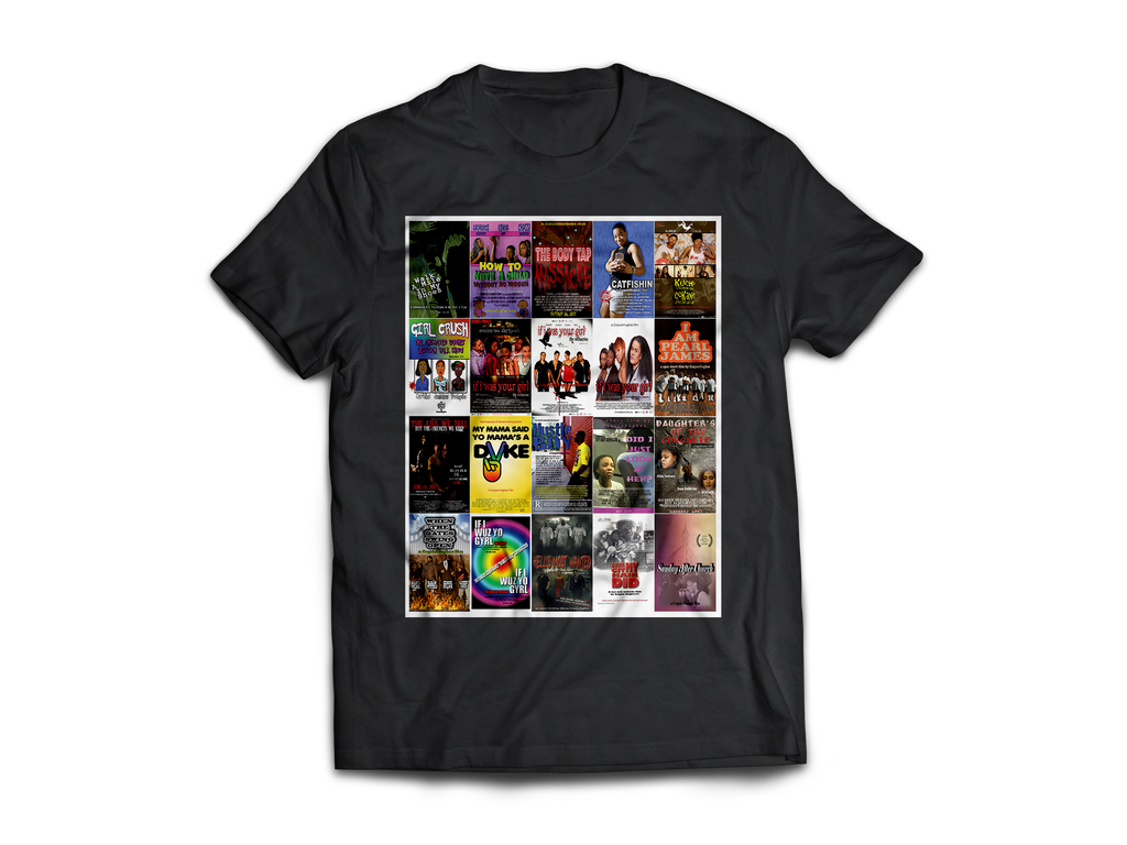 Coq's Movie Collage - CoquieHughes Movie Poster Tee - Short-Sleeve Black Unisex T-Shirt