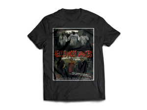 Hell's Most Wanted - CoquieHughes Movie Poster Tee - Short-Sleeve Black Unisex T-Shirt