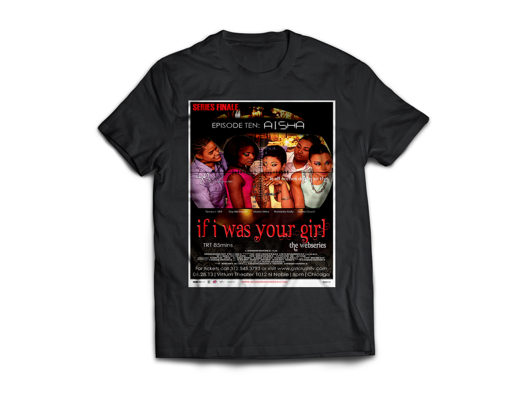 If I Was Your Girl Webseries Episode 10 - CoquieHughes Movie Poster Tee - Short-Sleeve Black Unisex T-Shirt