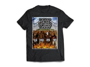 When The Gates Swing Open - CoquieHughes Movie Poster Tee - Short-Sleeve Black Unisex T-Shirt