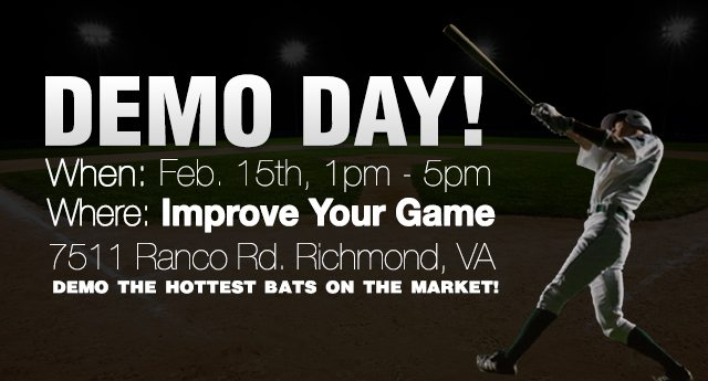 Come Demo The HOTTEST Bats On The Market!