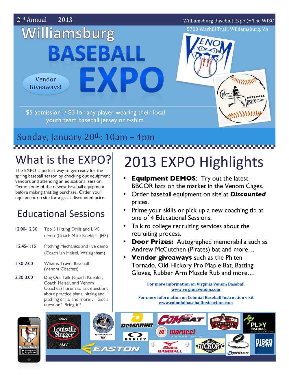Disco Sports at the Williamsburg Baseball Expo