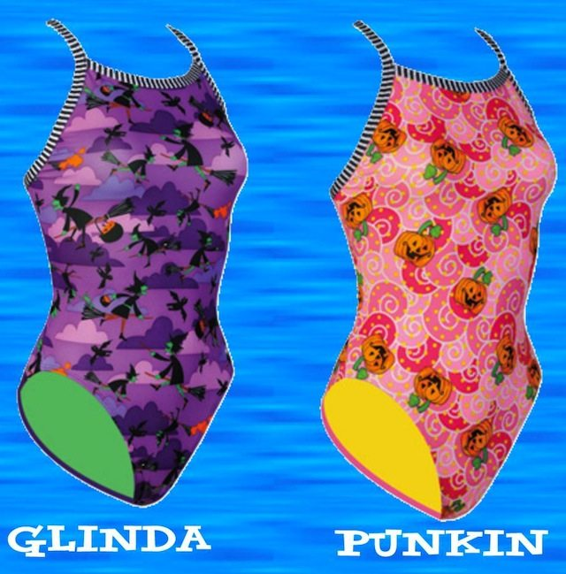 Limited Edition Halloween girls swimsuits from Dolfin Uglies!