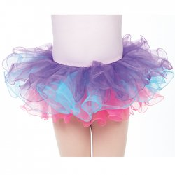 Three Color Tutu with Hair Bow