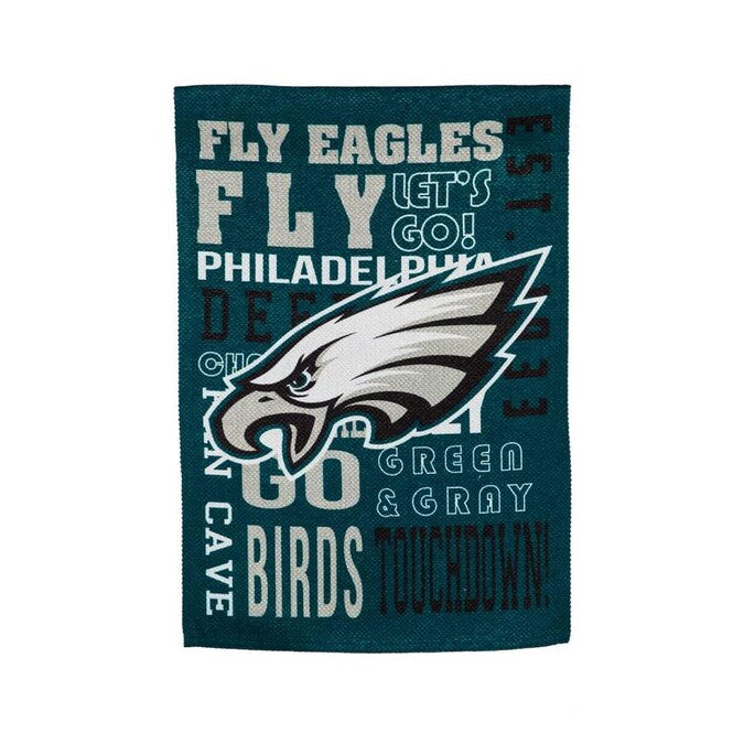 Philadelphia Eagles Fan Rules Embossed Suede Garden Flag