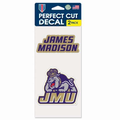 James Madison University 2 pack decal.