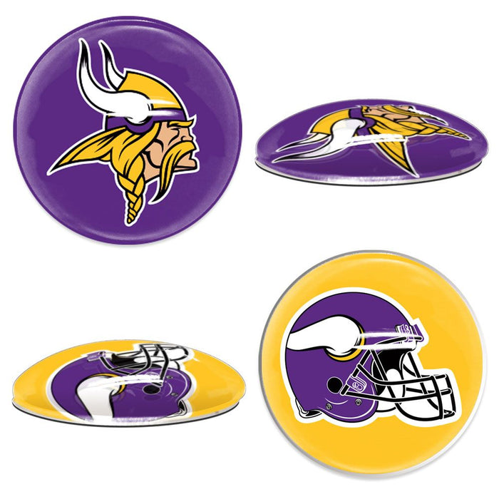 Minnesota Vikings Sport Dotts 2-Pack Glass Magnets
