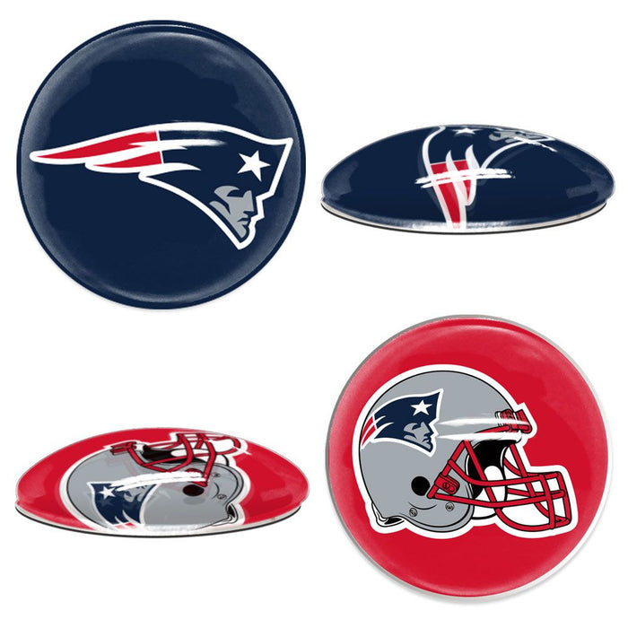 New England Patriots Sport Dotts 2-Pack Glass Magnets