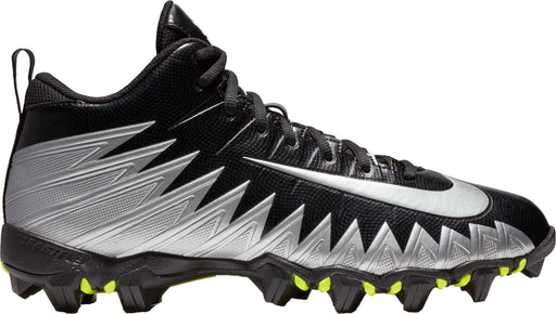 Nike Alpha Menace Shark Football Cleat in Black/Silver