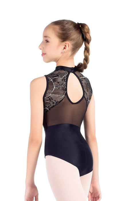 So Danca High Neck Mesh Back Leotard