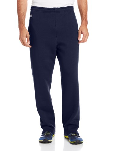 Russell Athletic Men's Dri-Power Open Bottom Sweatpants with Pockets, Navy, Small