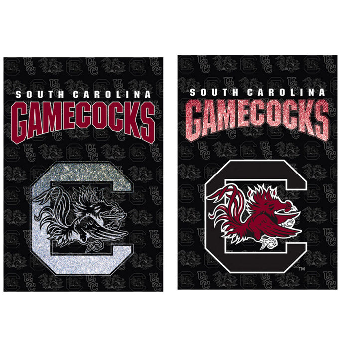 University of South Carolina 29 x 43 2 sided glitter college flag