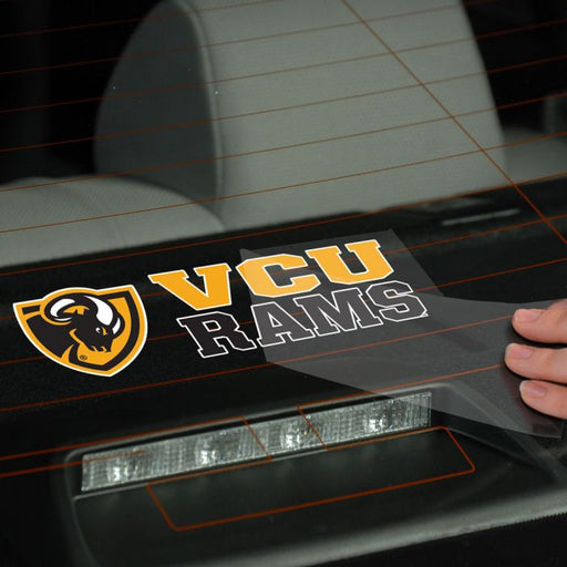 VCU Rams Stacked Perfect Cut Decal - DiscoSports