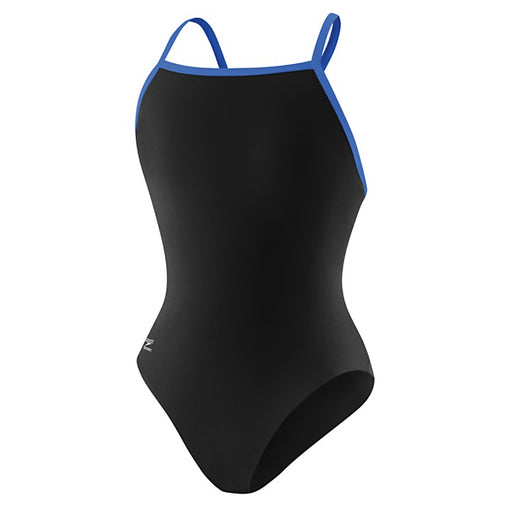 Speedo Endurance Flyback Youth One Piece Black/Blue - DiscoSports