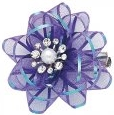 Dashes Party Bow Hair Clip