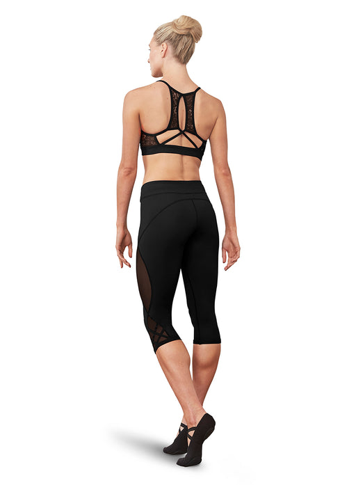 Bloch Strappy Mesh Back Crop Top - DiscoSports