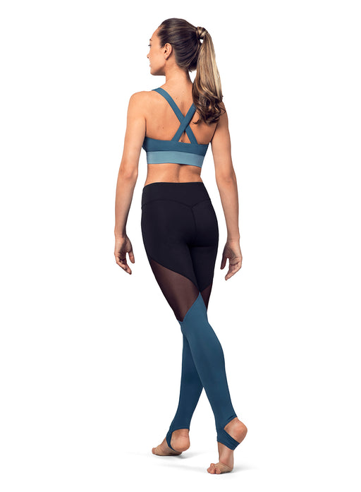 Bloch Color Panel Cross Back Crop Top - DiscoSports