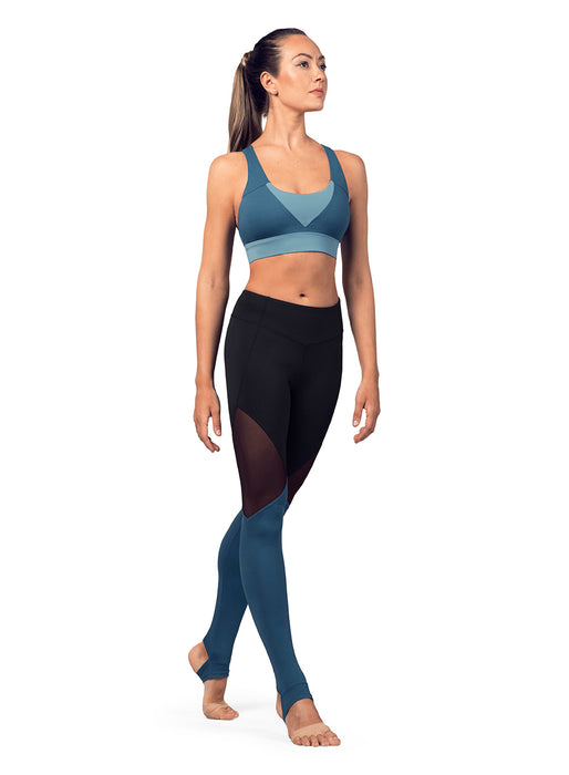 Bloch Color Panel Cross Back Crop Top