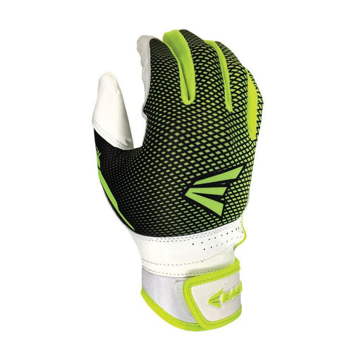 Easton Hyperlite Fastpitch Batting Gloves in White/Optic Yellow - DiscoSports