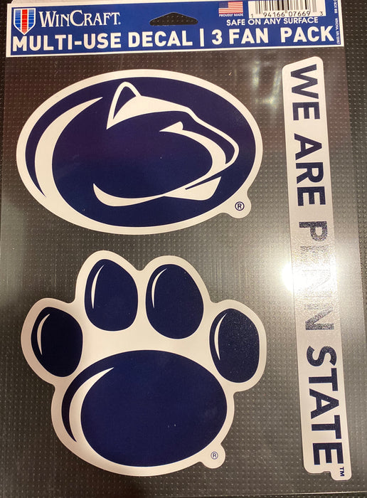 Penn State University Multi-Use 3-Pack Decal