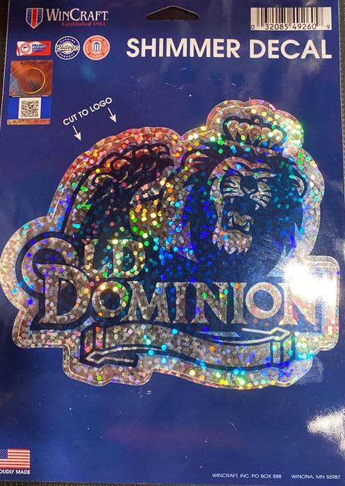 Old Dominion University Shimmer Decal