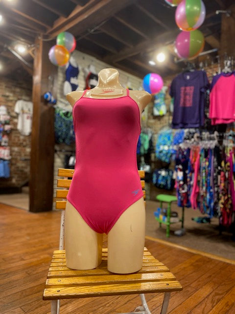 Speedo Open Back One Piece in Electric Pink