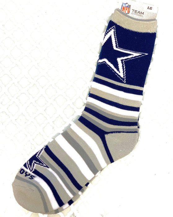 Dallas Cowboys Striped Socks