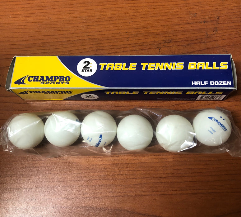 Champro 2-Star Table Tennis Balls