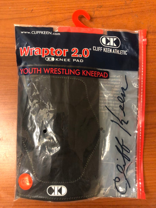 Cliff Keen Wraptor 2.0 Youth Wrestling Kneepad in Black