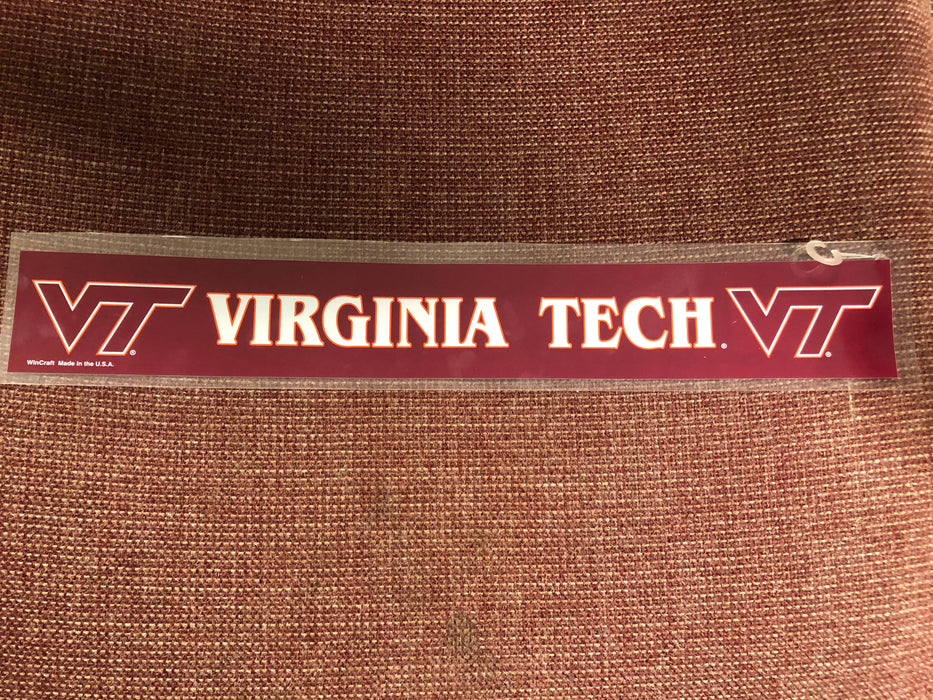 Virginia Tech Strip Decal