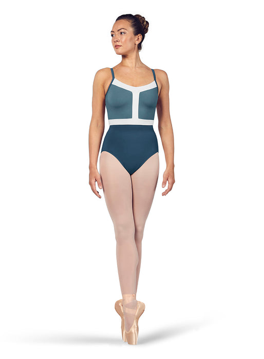Youth Color-Block Leotard in Sea