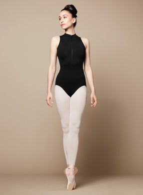 Bloch Ladies Black High Neck Mesh Back Leotard