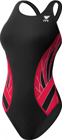 TYR Phoenix Splice MaxFit One Piece in Black/Red