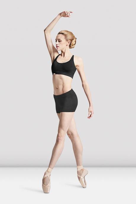 Bloch Derine-Round Waist Short in Black - DiscoSports