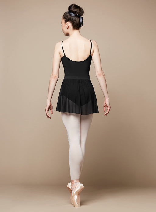 Bloch Placement Flock Wrap Skirt in Black - DiscoSports