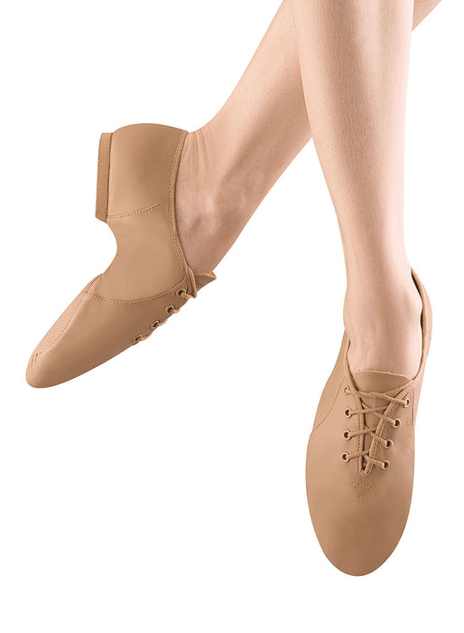 Bloch Jazzsoft Adult Lace Up Jazz Shoe in Tan