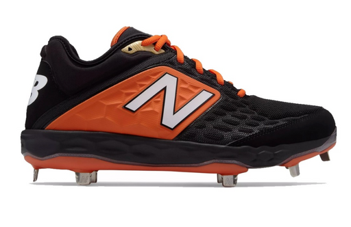 New Balance Metal 3000v4 Cleat - Men's Baseball (Black and Orange)